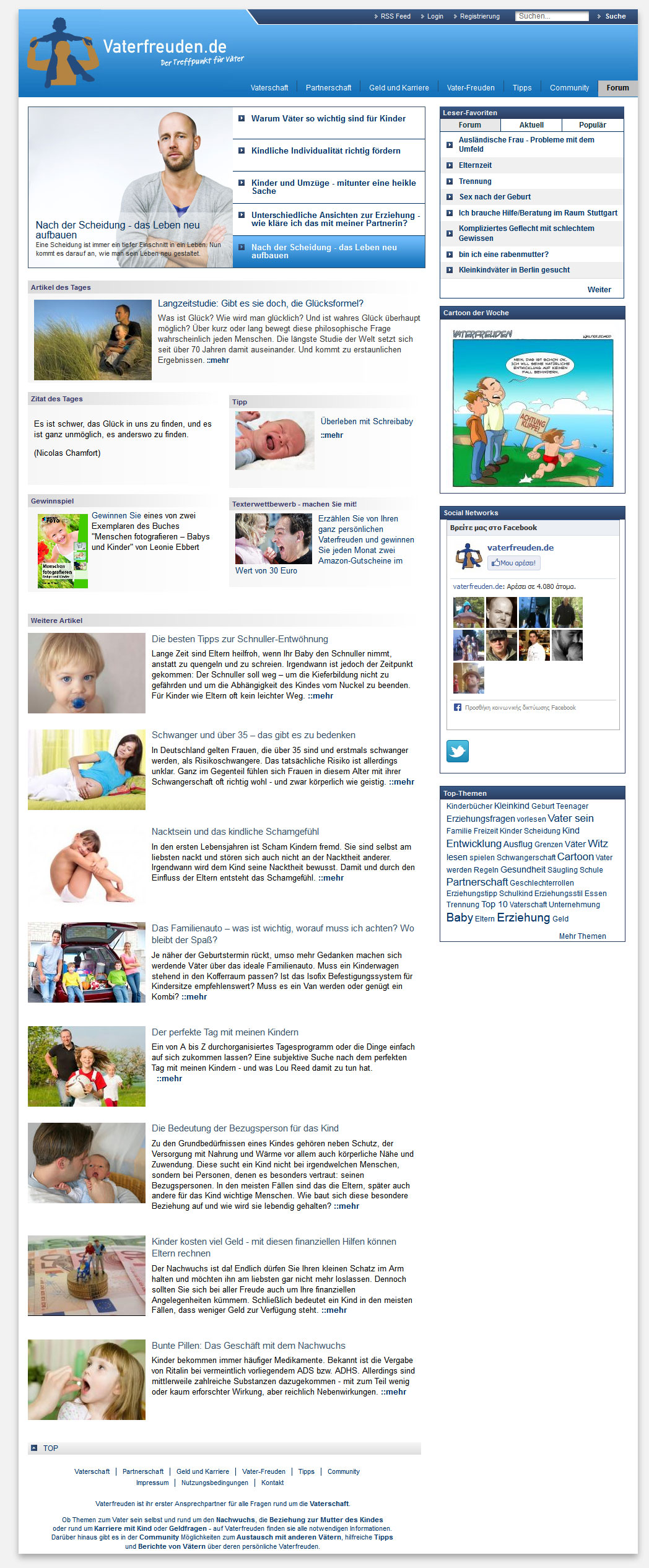 Vaterfreuden Online Community For Fathers Konordo Web Services